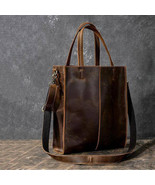 On Sale, Handmade Tote Bag, Horse Leather Shoulder Bag, Leather Shopping... - $165.00