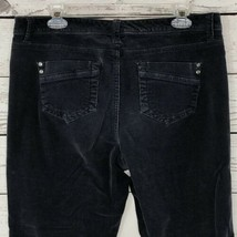 Sonoma Womens SZ 12 Corduroy Pants Original Boot Dark Gray Mid-Rise Boot... - $11.85