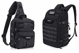 MOSISO Tactical Backpack & Slingbag - $87.96