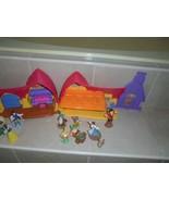 Disney's Snow White FP House & 10 Figures,Prince,4 Dwarfs,woodsman,horse... - $23.75