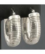 """Sterling Silver 1"""" Omega Hoop Earrings 8mm Width 15.1 Grams - $21.99"""