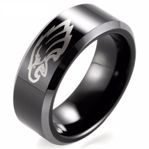 Philadelphia Eagles NFL Football Team Logo Tungsten Carbide Comfort Fit ... - $808,40 MXN