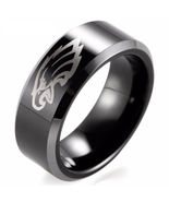 Philadelphia Eagles NFL Football Team Logo Tungsten Carbide Comfort Fit ... - £30.68 GBP