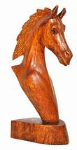 """WorldBazzar 9"""" Hand Carved Mahogany Horse Head Bust Western Statue - $19.74"""