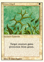 Magic: The Gathering 3rd Edition - Green Ward - $0.35