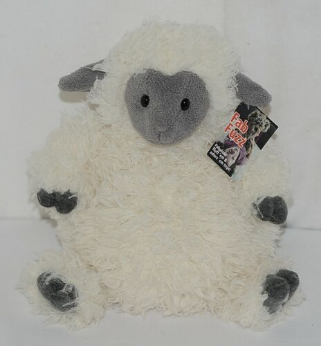 Mary Meyer Brand FabFuzz Collection 67492 White And Grey Plush Pudge Sheep