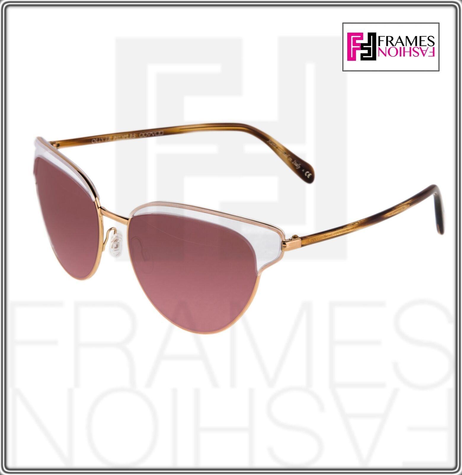 OLIVER PEOPLES JOSA OV1187S Rose Gold Pink Crystal Cat Eye Sunglasses 1187 image 9
