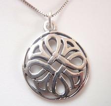 Celtic Patterned 925 Sterling Silver Pendant - $11.87