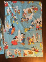 VTG  Mickey Mouse Frontierland  Twin Sheets Walt Disney Productions Bedding - $79.00