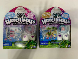 2 Hatchimals CollEGGtibles Hatchy Hangouts Polar Paradise Breezy Beach Walmart - $19.79