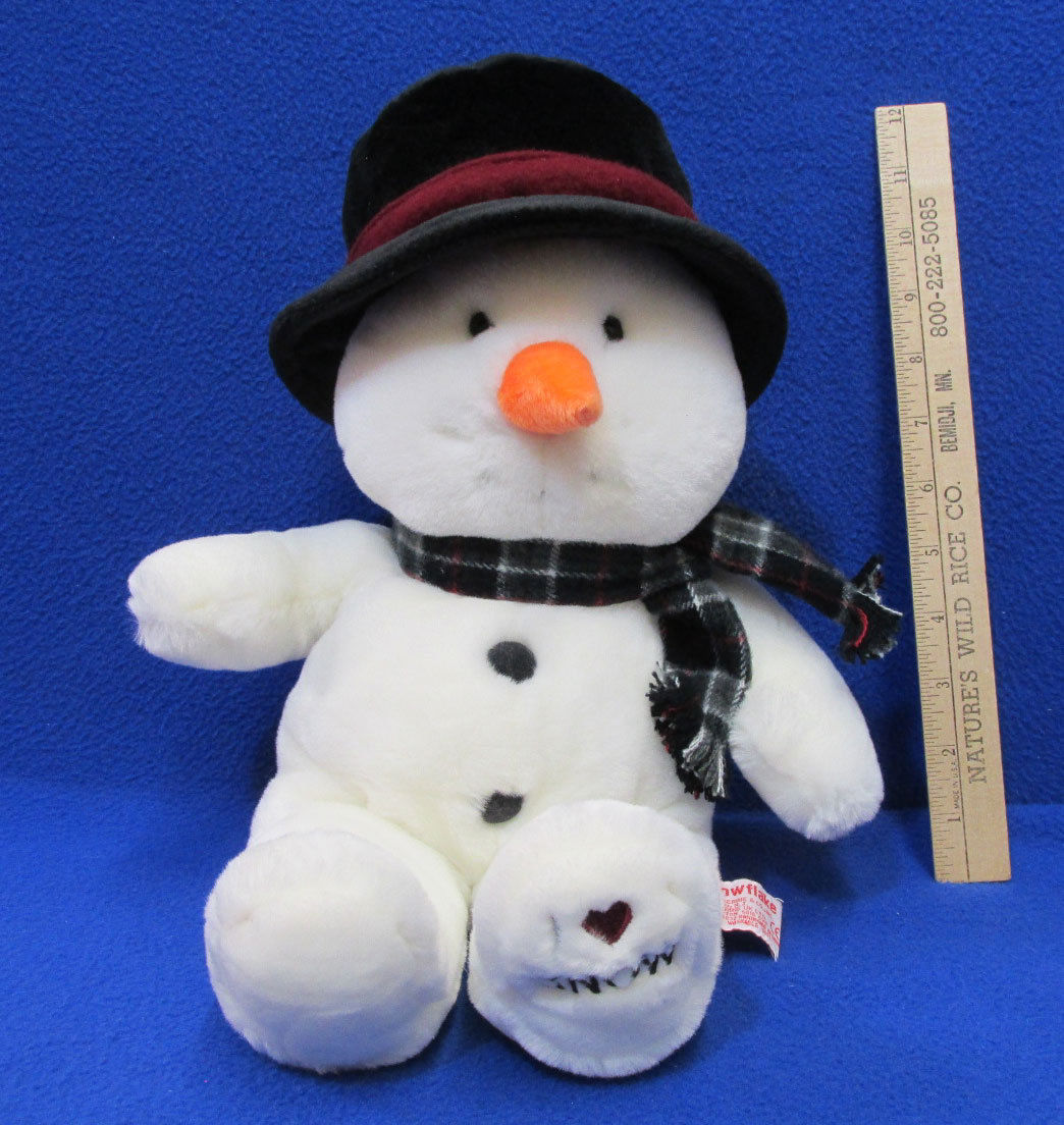 Snowflake the Snowman Plush Toy by Russ Super Soft I Love Snow Pellets Beads