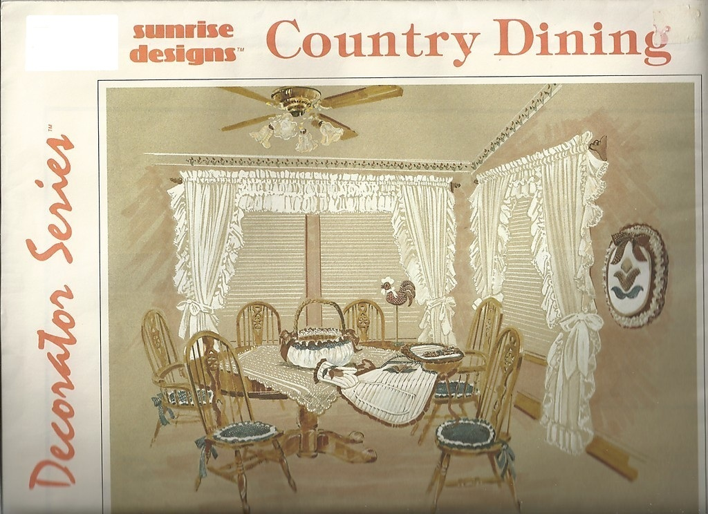Sunrise Designs® Country Dining Room w/ Rooster Pattern