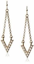 Cohesive Jewels a Pavé Zircone Cubico Cristallo Imi Oro V Orecchini a Goccia Nwt
