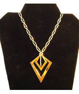 3 Piece Monet Gold Plated Necklace and Earrings Set C1970s - $12.95