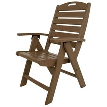 Outdoor Seating Furniture Tree House Highback Patio Folding Chair in Br... - £205.94 GBP