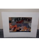 Disney 101 Dalmations Peg, Bull And The Twilight Bark Lithograph Free Sh... - $14.99