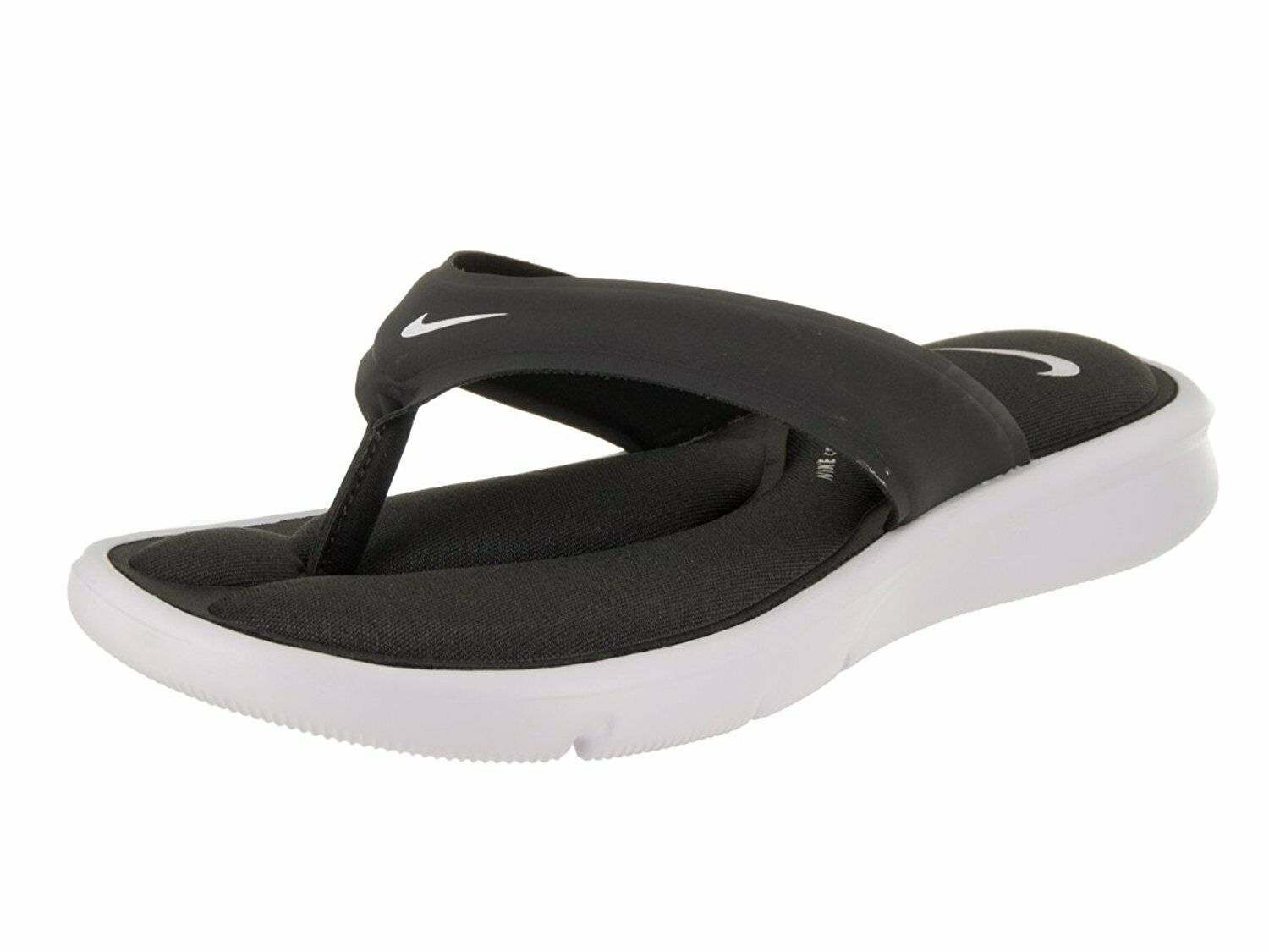 Women's Nike Ultra Comfort Thong Sandals, 882697 004 Size 6 Anthracite/White