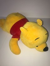 Walt Disney World Winnie The Pooh Plush Laying Stitch on Back Squishy So... - $48.37