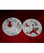 Lenox 12 days of christmas 2 salad plates 10 lords and 8 maids - $9.85