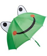 Kidorable Girls' Frog Umbrella, Green, Adult Size - $49.13