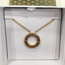 Michael Kors MKJ6379710 Gold Tone Haute Iconic Circle Necklace  NWT - $49.27