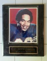 O.J. Simpson Autographed Buffalo Bills Framed Photograph with Brass Engr... - $116.53