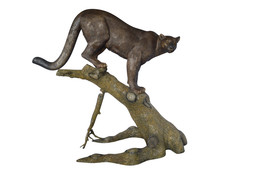 "Mountain Lion AKA Panther or Puma Bronze Statue -  Size: 73""L x 41""W x 6... - $8,900.00"