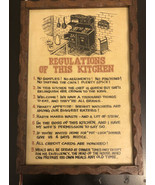 Wall Plaque Regulation Of This Kitchen - $10.89