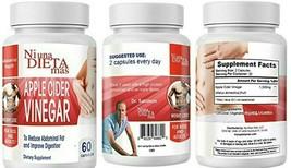 NI UNA DIETA MÁS Vinegar Capsules - To Reduce Abdominal Fat - 60 cap EXP... - $24.67