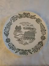 Wayne County Royal China Dinner Plate Green White 1950 Vintage  - $44.55