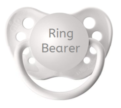 Ring Bearer Pacifier - Wedding Binky - White - 0-18 months - Baby Boy Gift - $9.99
