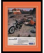 1973 Harley Davidson SX 175 Framed 11x14 ORIGINAL Vintage Advertisement  - $37.04