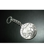 Key Chain Metal 1877 Indian Head Penny and Seven Star Buffalo Nickel Sou... - $8.99