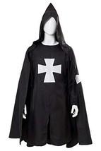 Adult Halloween Medieval Costume Robe Knights Templar Costume Cloak Hosp... - $44.61