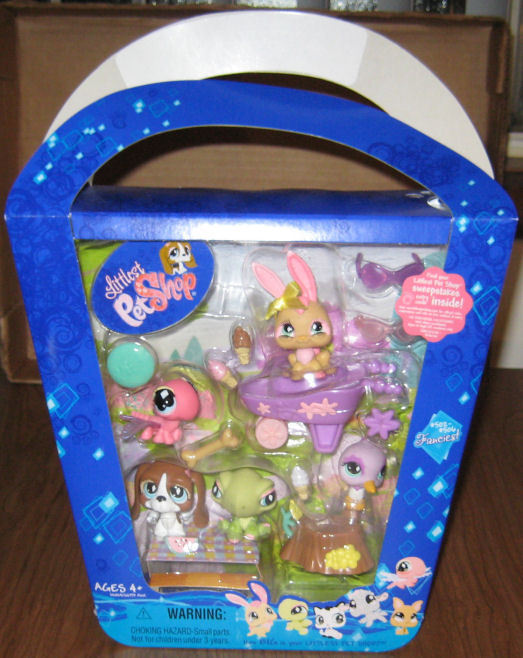 Littlest Pet Shop 2007 EASTER #502-506 5 Pets/Access