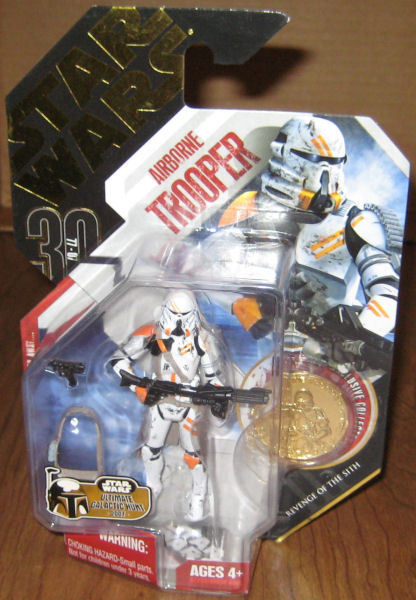 * Star Wars 2007 Airborne Trooper #07 w/ Gold Collectible Coin