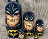 Batman gift, Zack Snyder justice league, Gifts dolls, set of 5 wooden handmade d - £43.14 GBP