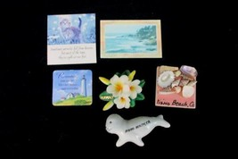 Lot of 6 Coast Ocean Seashells Miracles Seal Hibiscus Hawaii Souvenir Ma... - $11.88