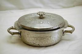 Old Vintage Everlast Forged Aluminum Covered Serving Dish 1 Qt. Pyrex Gl... - $26.72