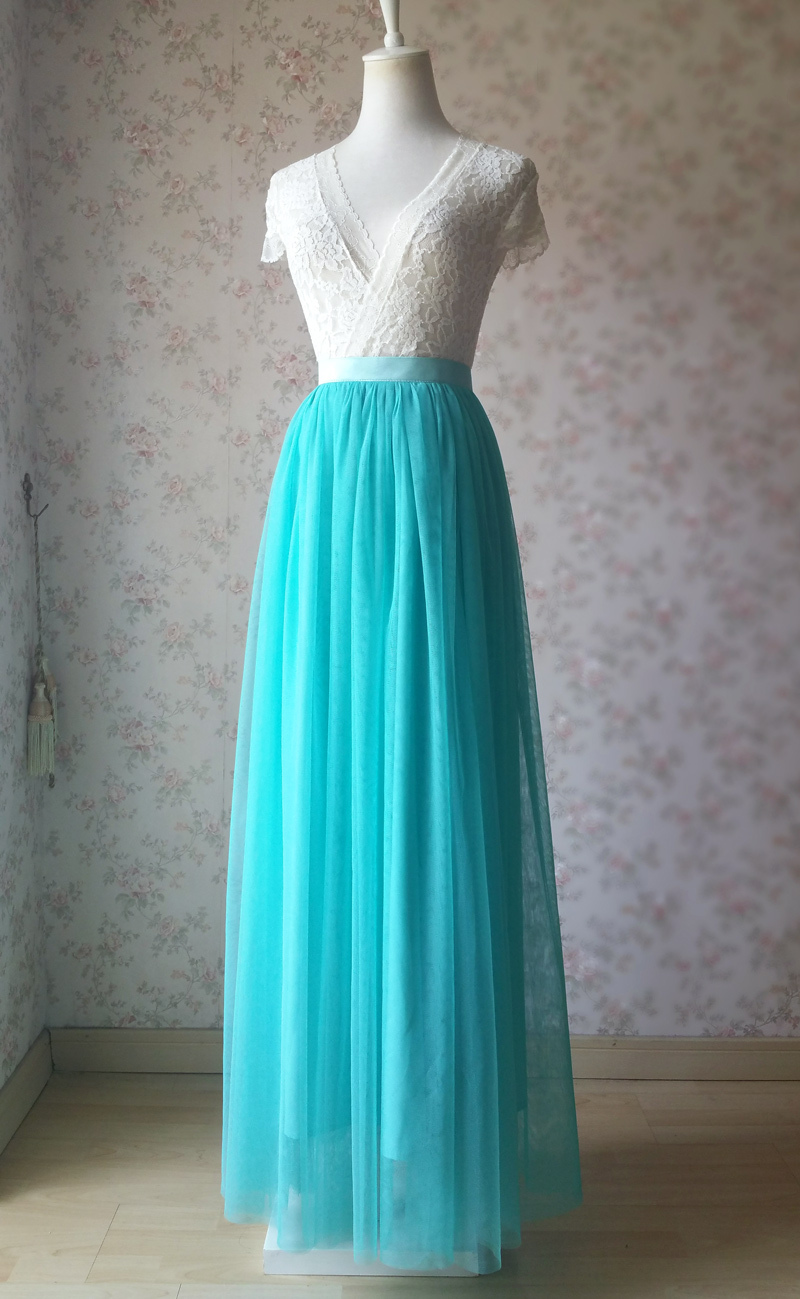 Maxi tulle waterblue 1