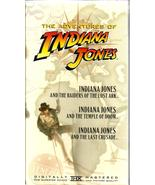 THE ADVENTURES OF INDIANA JONES ~ 3 VHS TAPE BOX ~ BRAND NEW / SEALED  - $9.99