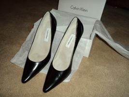 Calvin Klein Woman's Black Leather High Heel Shoe Size 7 1/2 - $25.00