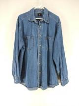 Levi's Button Up Denim Shirt Mens Sz Large Medium Wash (c1)   - $24.99