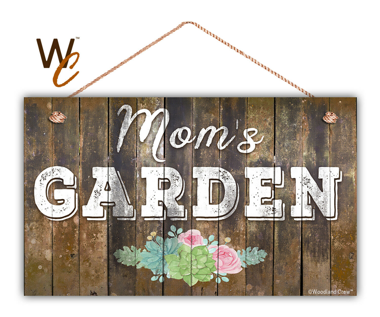 "Mom's Garden Sign, Floral Rustic Decor, 11"" x 17"" Sign, Gift For Mom, House Gift"