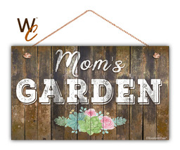 "Mom's Garden Sign, Floral Rustic Decor, 11"" x 17"" Sign, Gift For Mom, Ho... - $34.60"