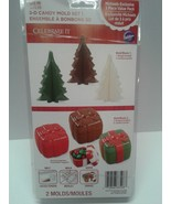 Christmas 3-D Cookie Candy Mold Set Tree Present Box Wilton 3 pack - $8.00