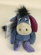 Disney Store Winnie The Pooh Eeyore Mini Bean Bag Plush Stuffed Vintage Toy Tags - $17.77