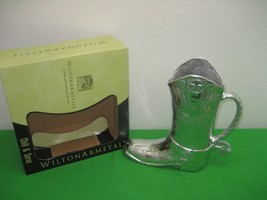 Wilton Armetale Chill & Serve Cowboy Boot 2 Qt Pitcher Made in USA NIB - $79.15