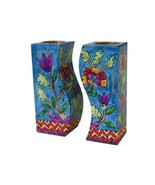 Jerusalem Fitted Shabbat Candlestick Holders, Hand Painted by Yair Emanu... - $25.91