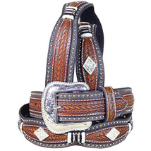 40 Inch M&F Western Nocona M&F Western Leather Mens Belt Scallop Overlay Copper - $46.95